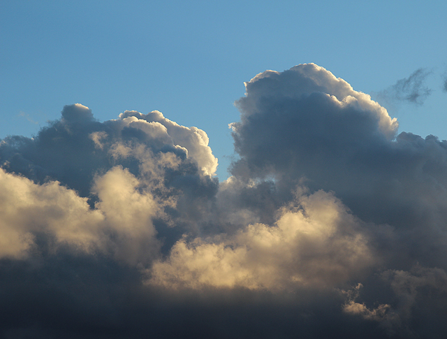 Clouds With Light and Blue Sky