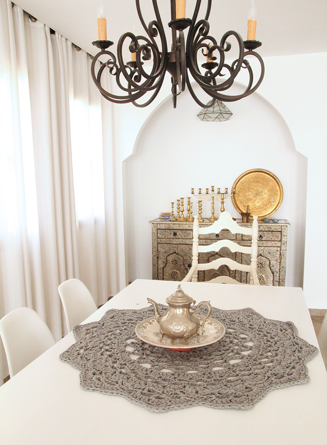 Moroccan Dining Table. giant crocheted doily g goes moroccan - Moroccan Dining Table. Moroccan Outdoor Round Mosaic Tile Dining