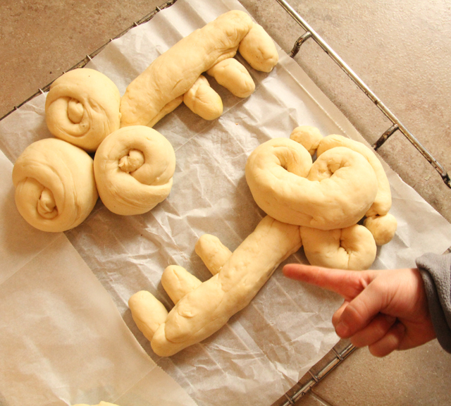 Schlissel Key shaped challah 2013