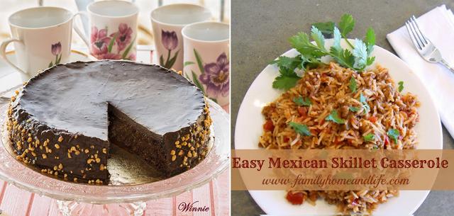 Quinoa cake,mexican skillet casserole
