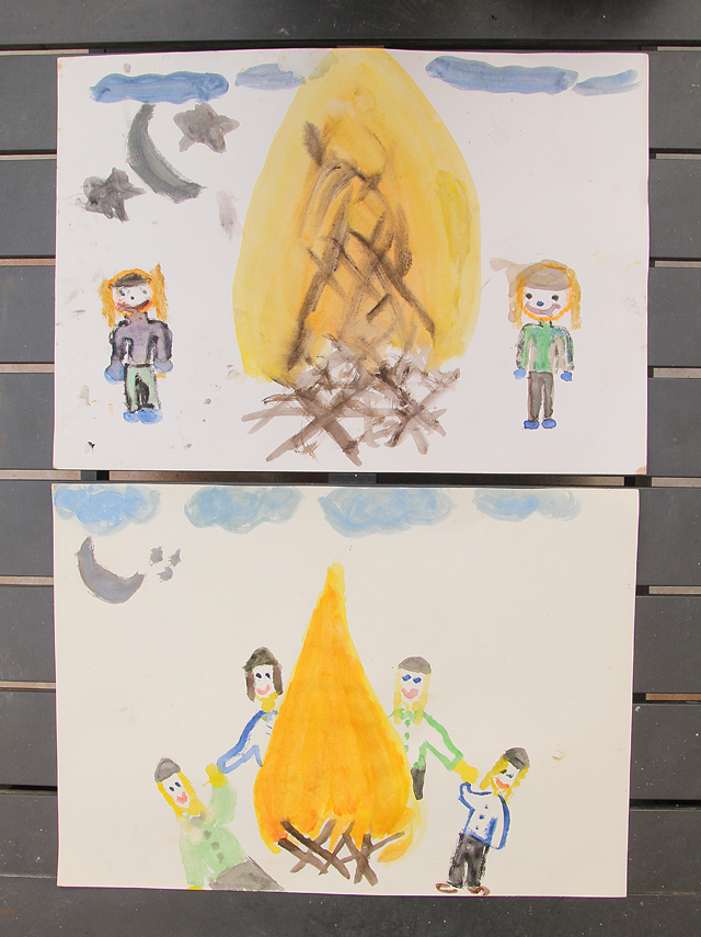 Water Color Paintings For Lag B'Omer