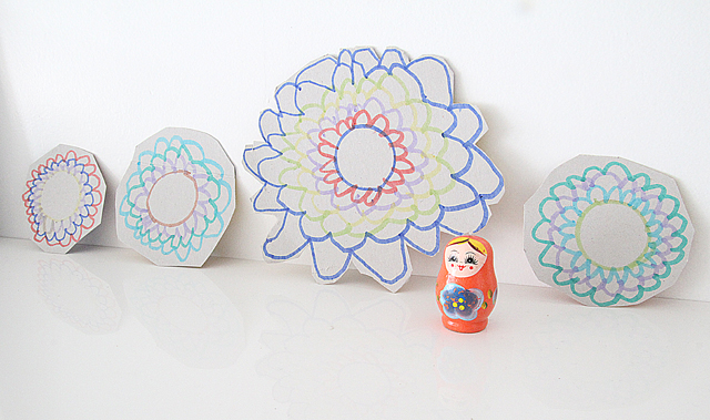Simple Drawing Lesson For Kids-flowers