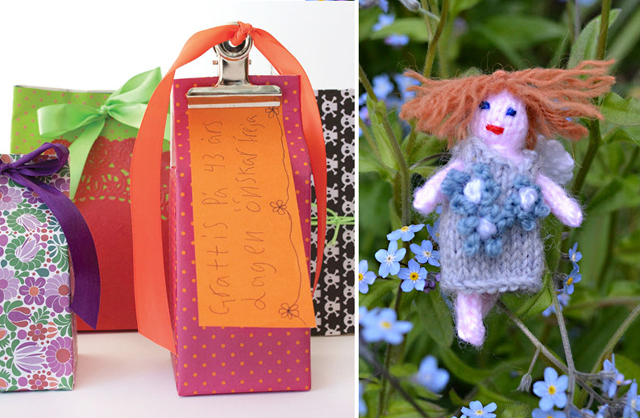 Knit faerie,recycled gift packages from cartons