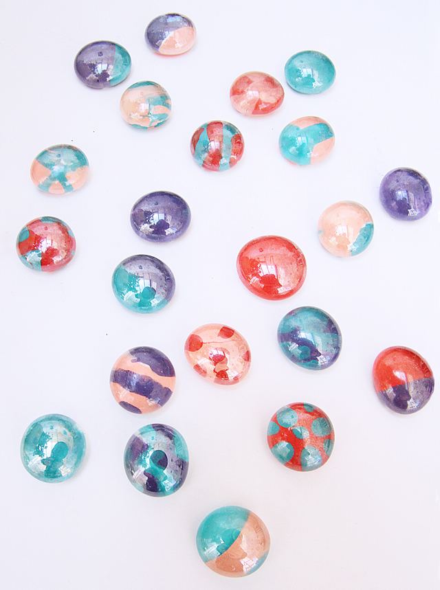 Fingernail Polish Glass Pebble craft
