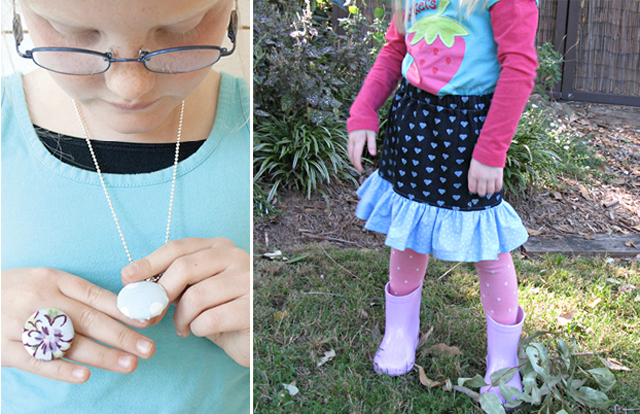 Covered button jewelry,fun swing skirt