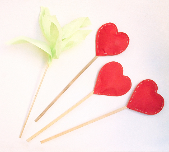 Hearts Stuffed on sticks