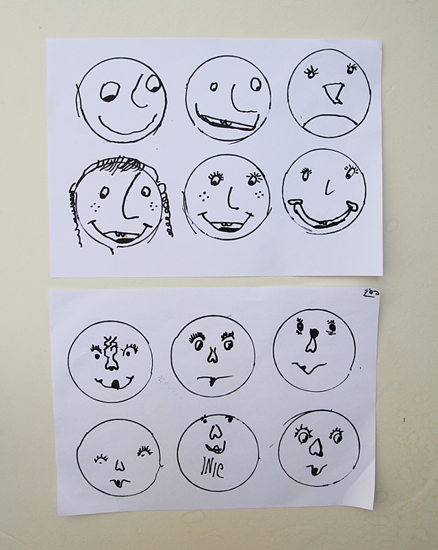 Drawing Exercise For Kids- Drawing Faces