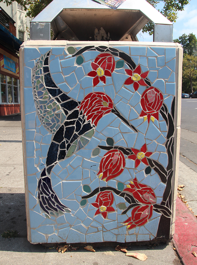 Mosaic Garbage Can-Grant Ave Oakland
