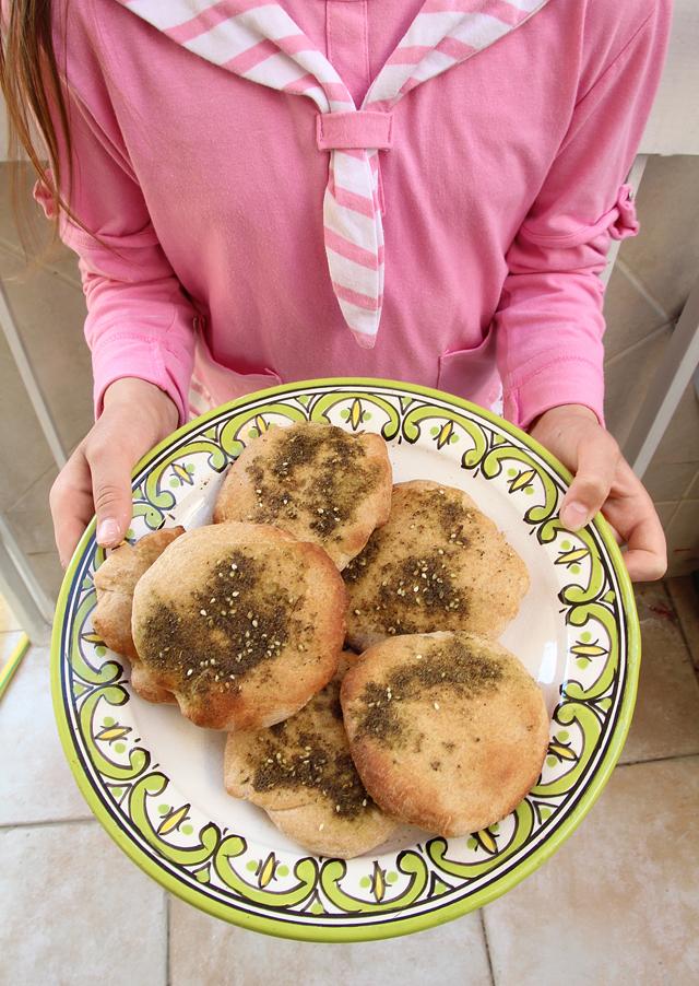 Spelt Pitas Kids Can Bake