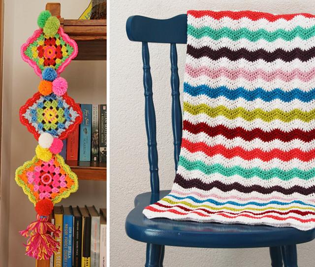 Granny garland,spring ripple crochet