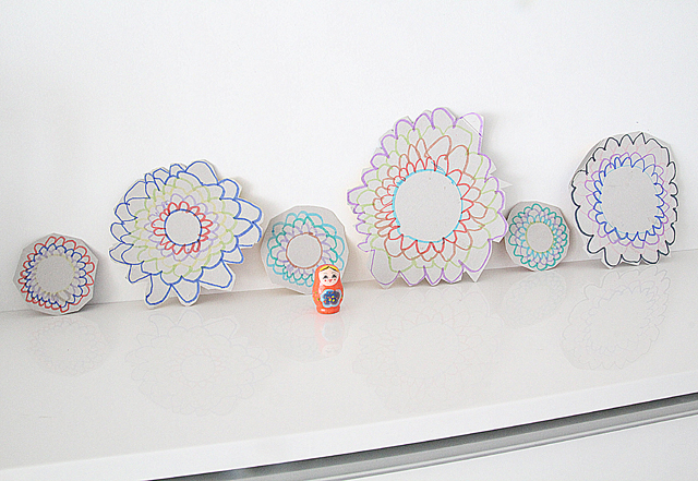Simple Drawing For Kids Flowers Big And Small