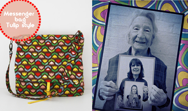 Four generations photo,messenger bag