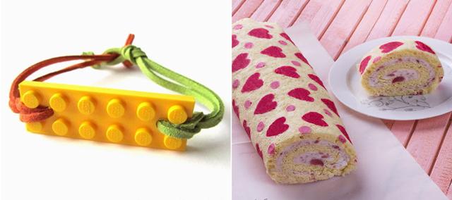 Lego id bracelet, heart cake roll