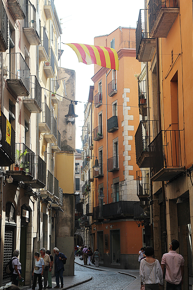 Girona Spain Old City Alley With Rust Building
