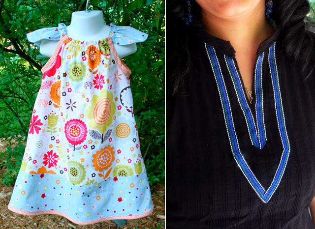 Summer dress, neck detail