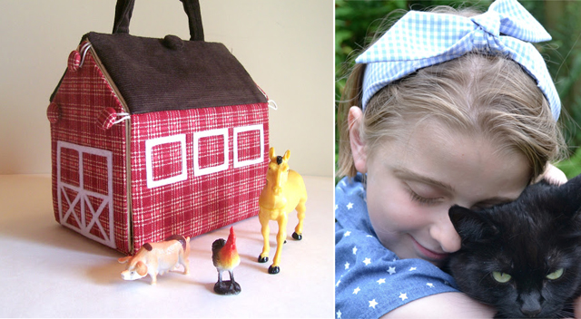Traveling farm sewn,retro hairband