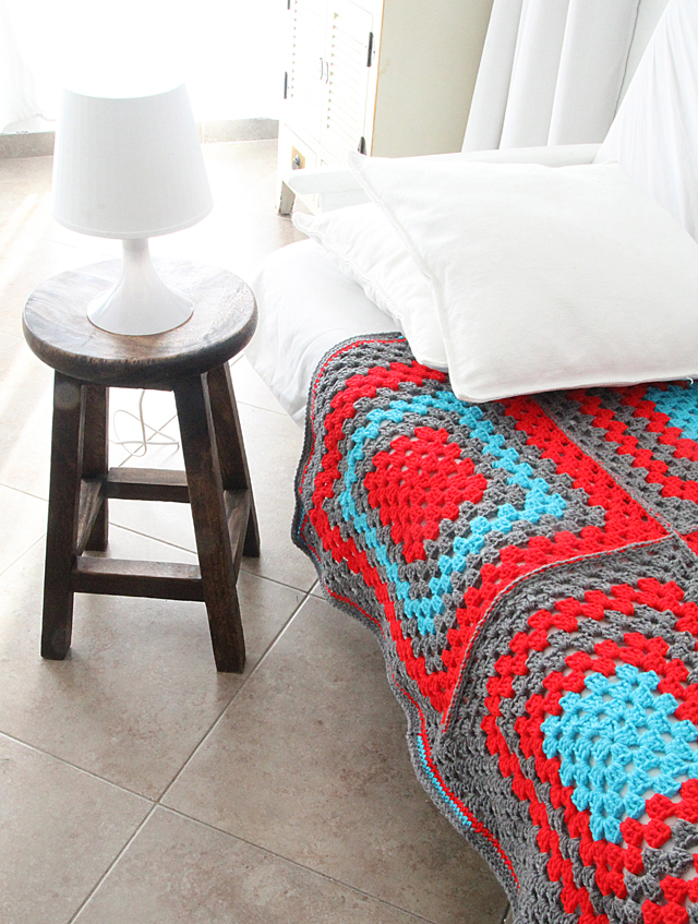 Crocheted Giant Granny Coverlet