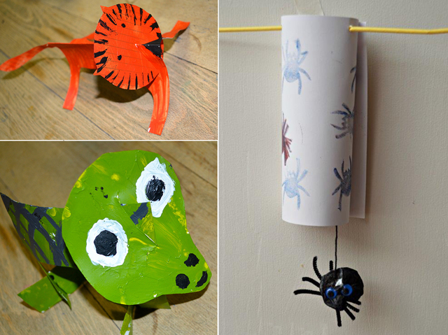 3-D animal craft,itsy bitsy spider craft