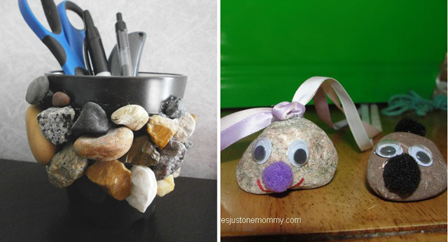 Crafts with stones for kids