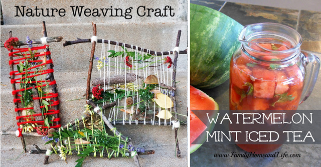 Nature weaving craft,watermelon tea