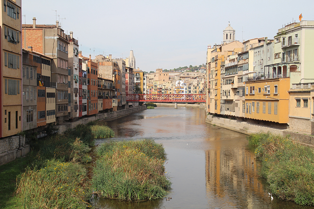 Girona River Houses With Bridge