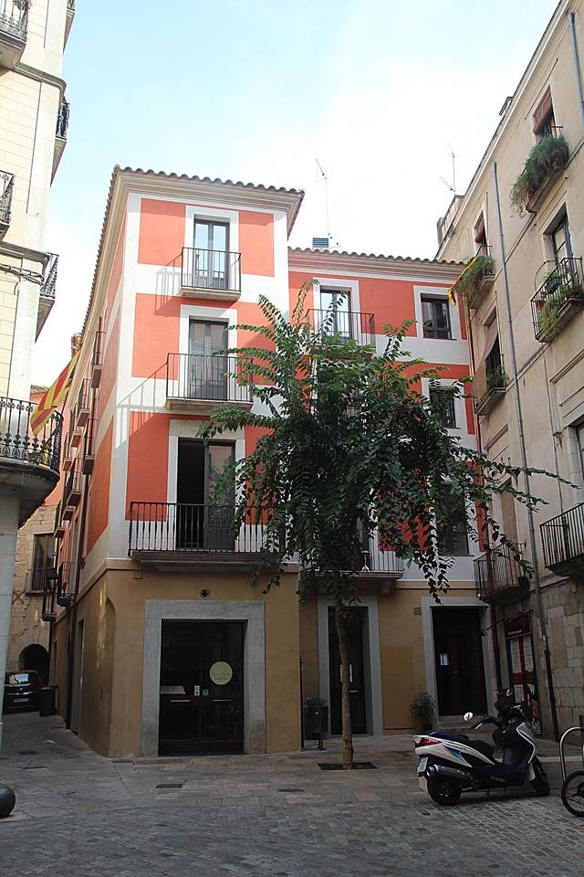 Girona Old Buildings Rust and Yellow
