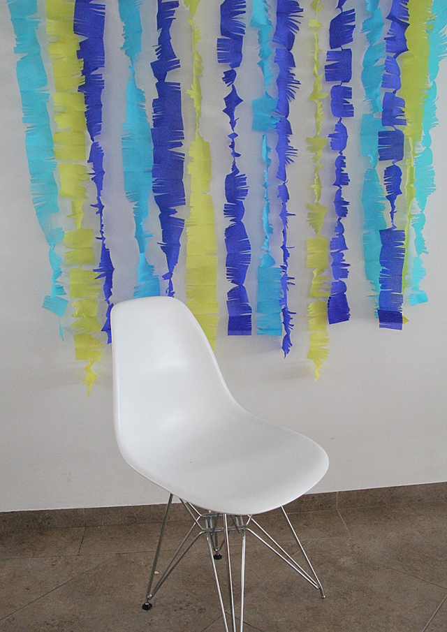 Crepe Paper Photo Backdrop