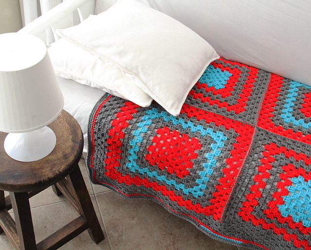 Crocheted Granny Baby Blanket Coverlet