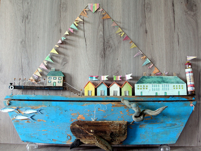 Driftwood craft ship village