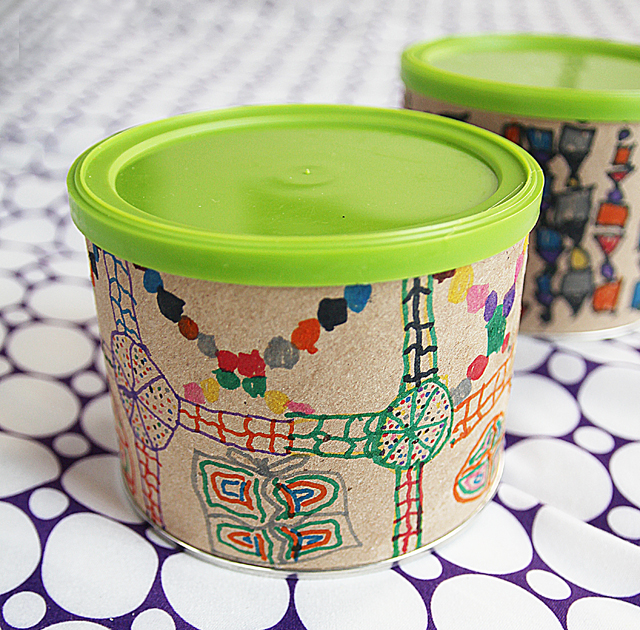 Doodle Cannisters Recycled Craft