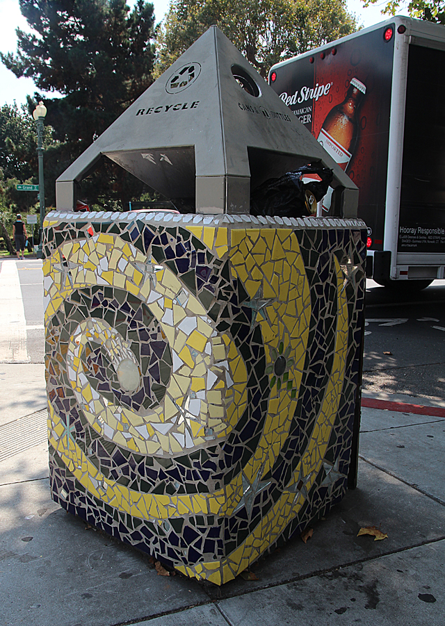 Mosaic Garbage Can-Starry night- Grant Ave. Oakland.jpg