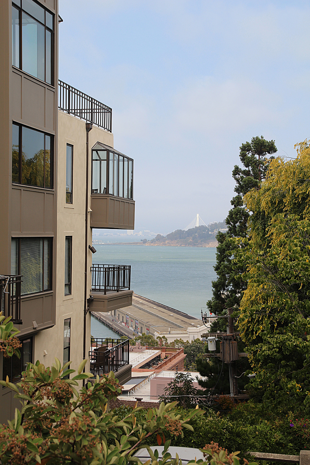 Filbert Steps, View of SF Bay