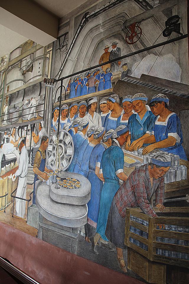 Filbert Steps, Coit Tower Historic Depression Era murals
