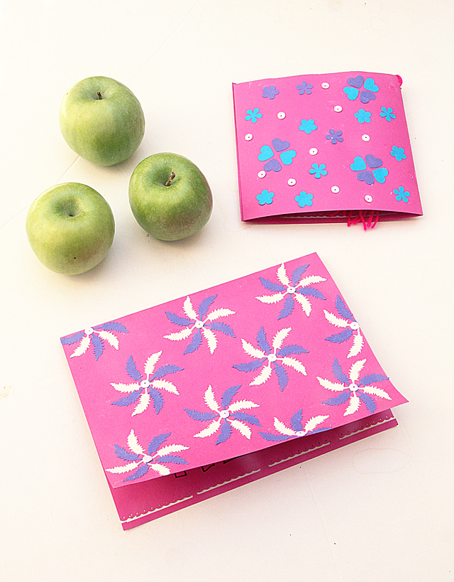 Rosh HaShana Cards With Punched Paper Elements