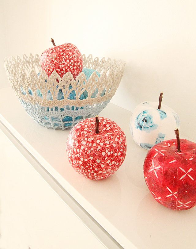 Apples With Fabric Strips
