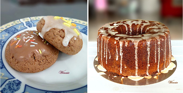 Honey cookies, date syrup cake