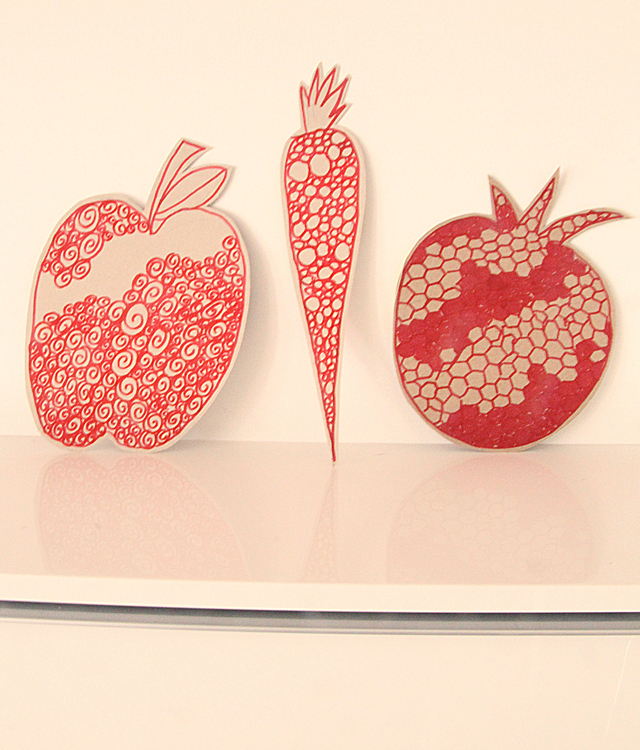 Doodle Craft For Rosh HaShana pomegranite