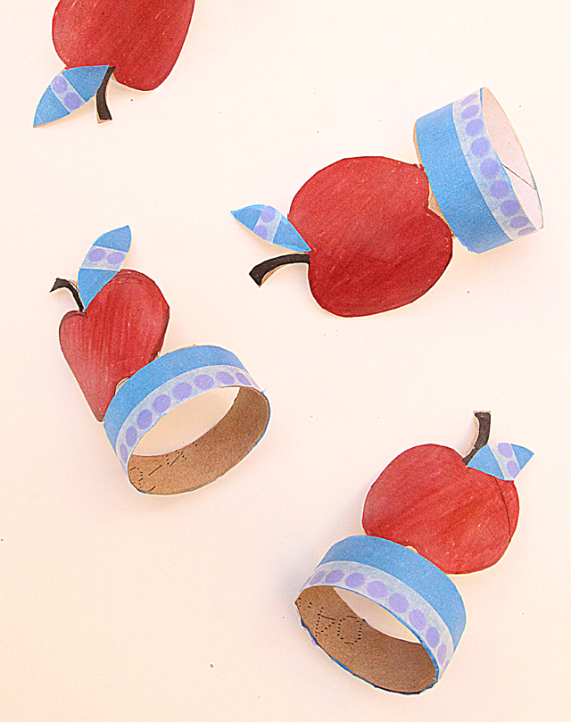Tp roll apple napkin rings for New Year