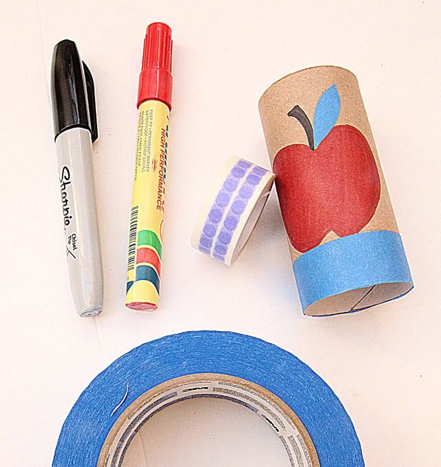 Tp roll apple napkin ring supplies