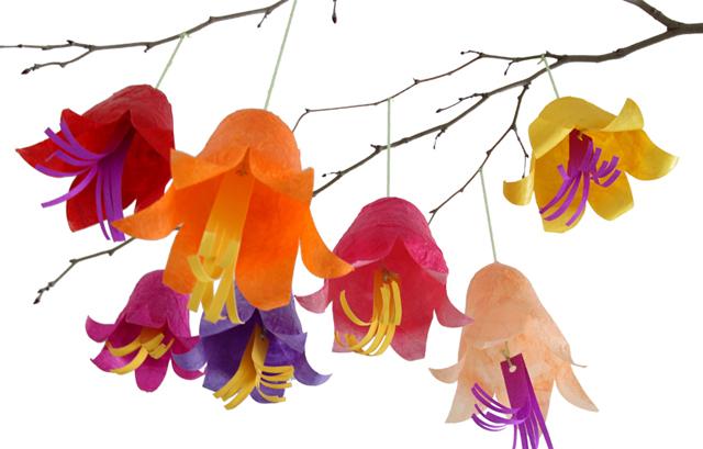 Succah Decorations-tissue paper flowers