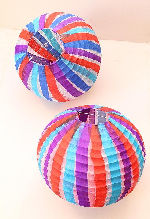 Sukkah Paper Ball Lanterns