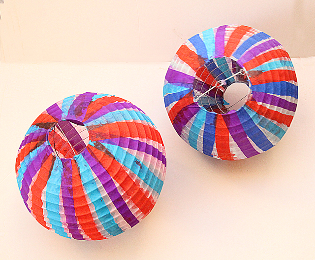 Sukkah Paper Ball Lanterns Revamped With Tissue Paper