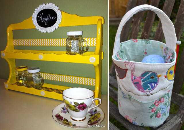 Revamped spice rack,bucket bag