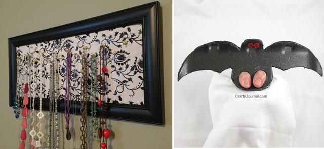 Necklace hanger,foam tray bat