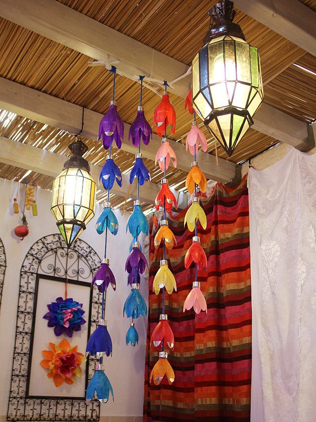 Sukkah Decor With Moroccan Lanterns2013