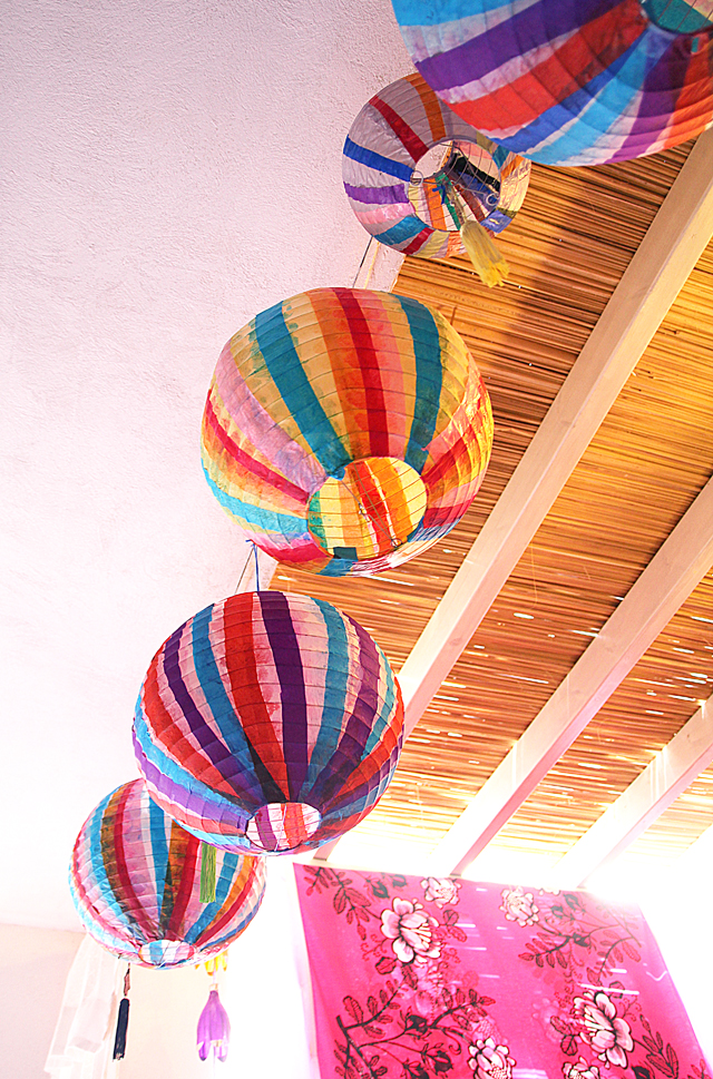 Sukkah Decorations Paper Striped Lanterns