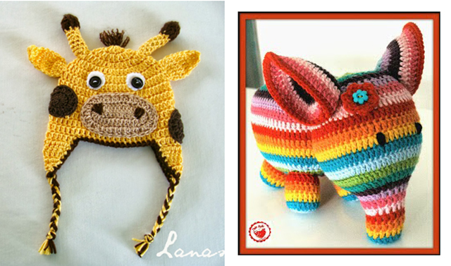 Crocheted giraffe hat,crocheted elephant pattern