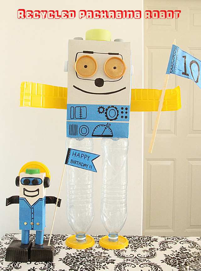 Recycled Packaging Robot Craft For Kids