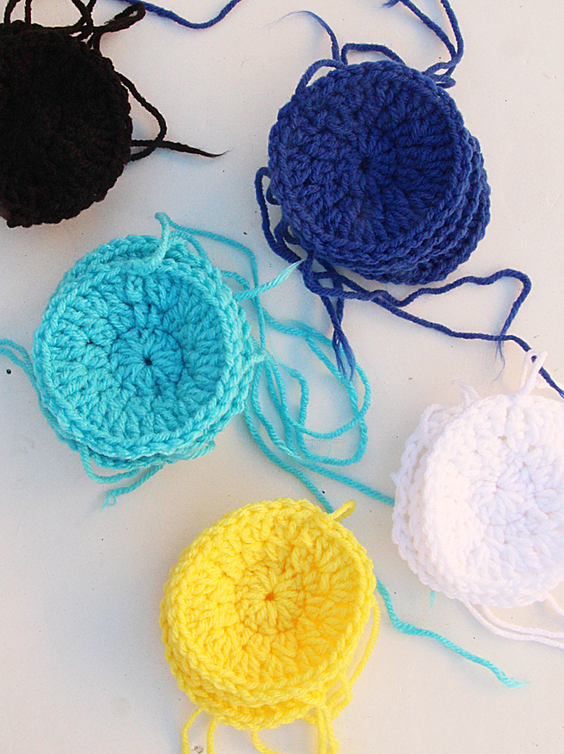 Crocheted Circles For A Granny Blanket