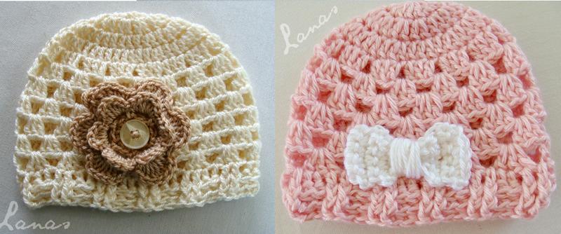 Crocheted Granny Hats